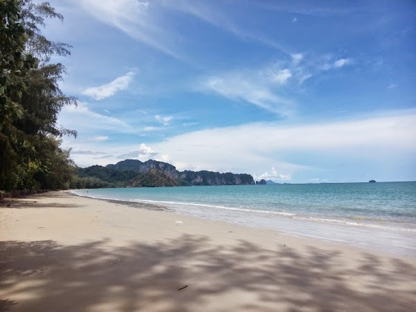 Popular tourist site Ao Nang Beach in Krabi