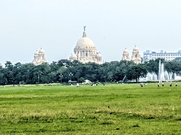 Popular tourist site Maidan in Kolkata