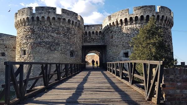 Popular tourist site Kalemegdan Park in Belgrade