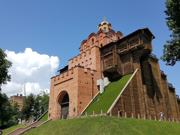 Popular tourist site Golden Gate in Kyiv