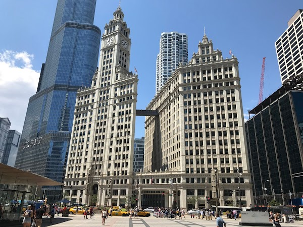 Popular tourist site The Wrigley Building in Chicago