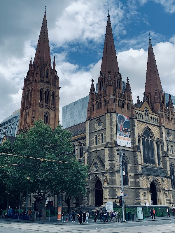 Popular tourist site St Paul's Cathedral, Melbourne in Melbourne