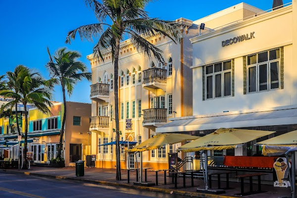 Popular tourist site Art Deco Historic District in Miami
