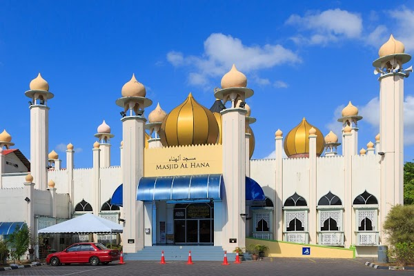 Popular tourist site Masjid Al Hana in Langkawi