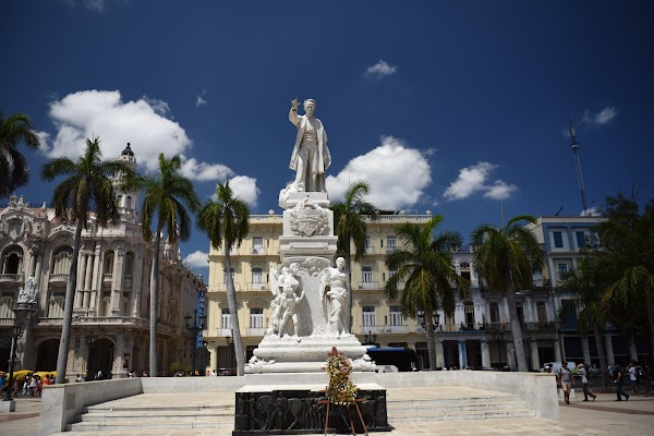 Popular tourist site Parque Central in Havana