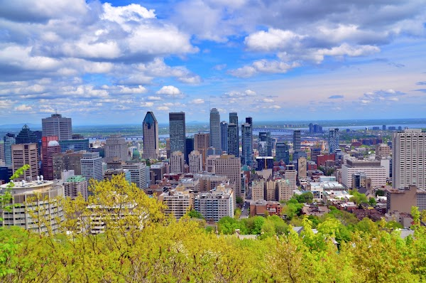 Popular tourist site Mount Royal Park in Montreal