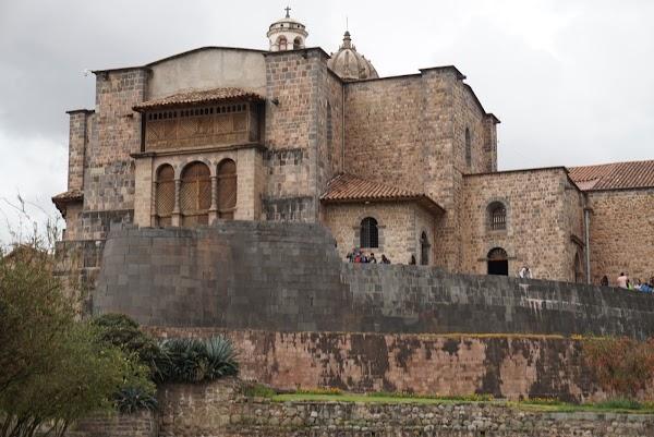 Popular tourist site Qorikancha in Cusco