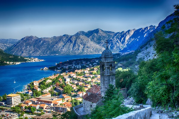 Popular tourist site Church of Our Lady of Remedy in Kotor