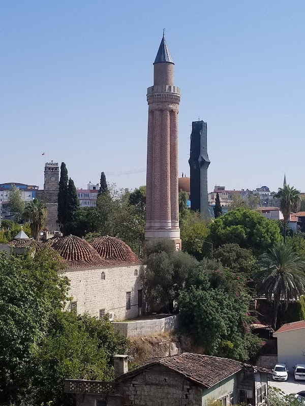 Popular tourist site Yivliminare Mosque in Antalya