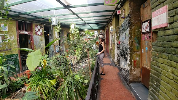 Popular tourist site Szimpla Kert in Budapest