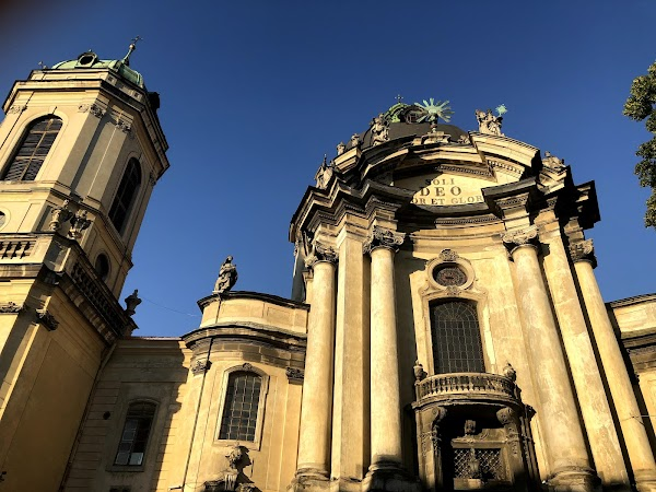 Popular tourist site Dominican Cathedral in Lviv