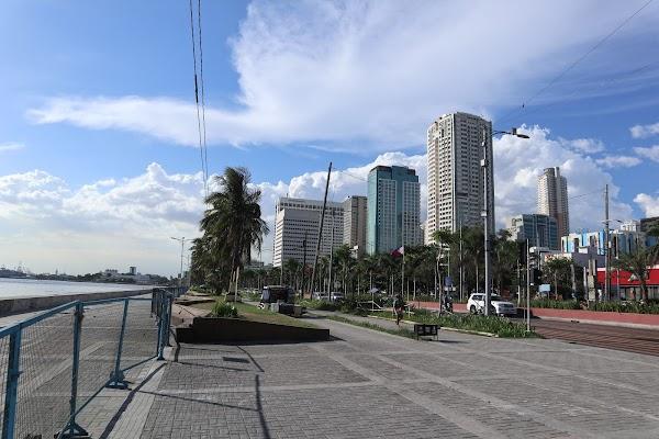 Popular tourist site Manila Baywalk in Manila