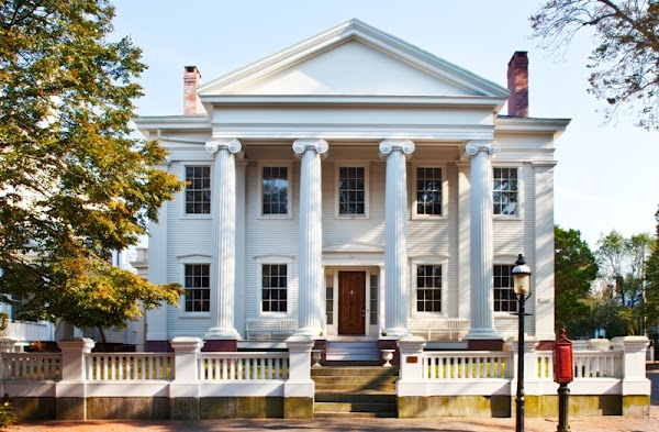Popular tourist site Hadwen House in Nantucket