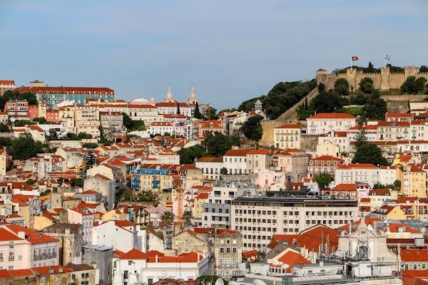 Popular tourist site Castelo de S. Jorge in Lisbon