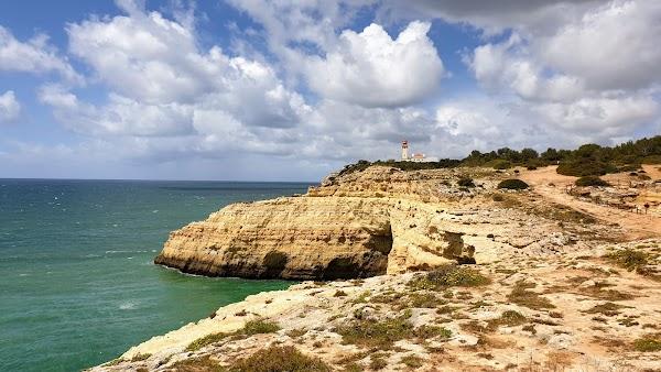 Popular tourist site Alfanzina Lighthouse in Algarve