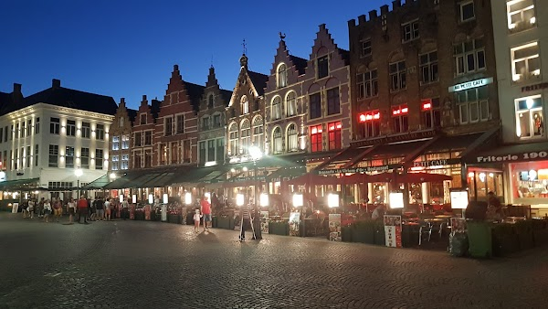 Popular tourist site Markt in Bruges