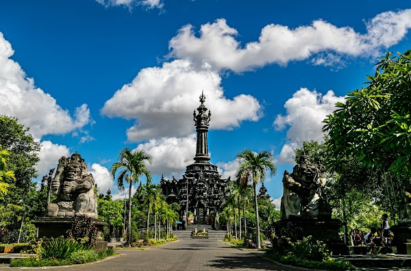 Popular tourist site Bajra Sandhi Monument in Denpasar City