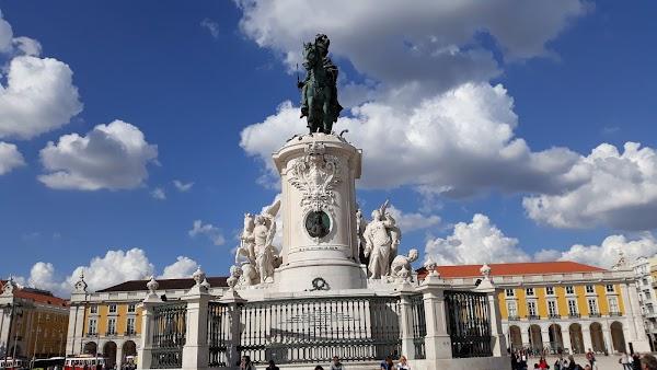 Popular tourist site Praça do Comércio in Lisbon