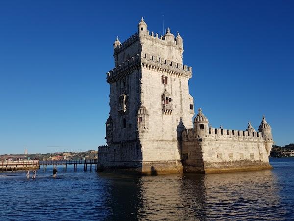 Popular tourist site Belém Tower in Lisbon