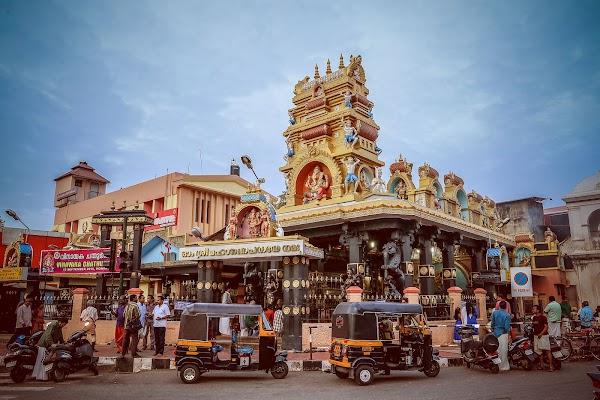 Popular tourist site Pazhavangadi Ganapathi Temple in Trivandrum