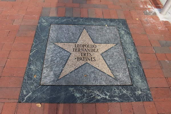 Popular tourist site Calle Ocho Walk of Fame in Miami