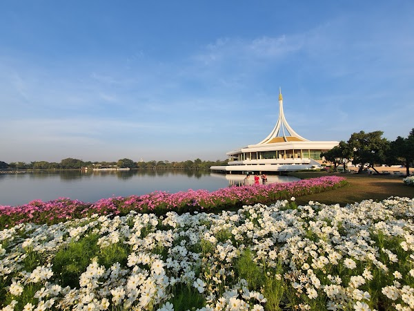 Popular tourist site King Rama IX Park in Bangkok