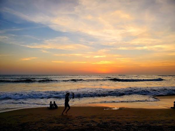 Popular tourist site Berawa Beach in Canggu