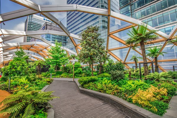 Popular tourist site Crossrail Place Roof Garden in London