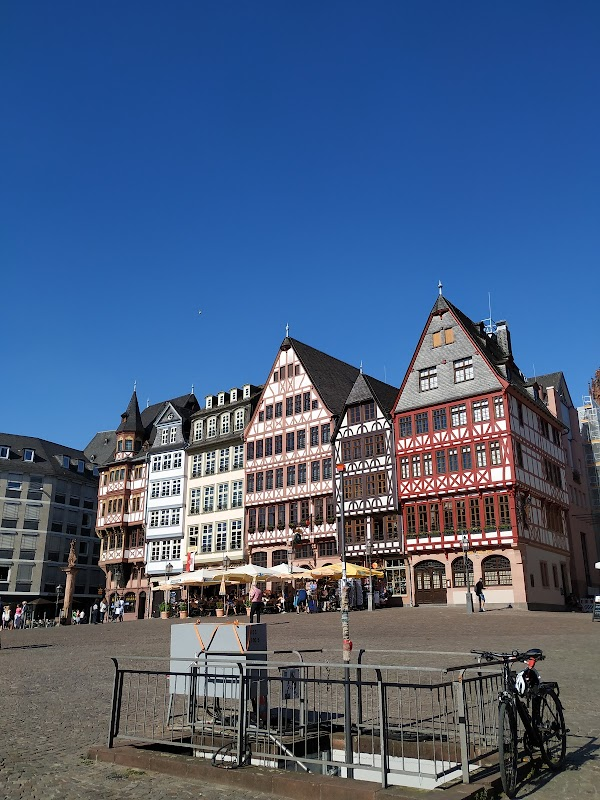 Popular tourist site Römerberg in Frankfurt