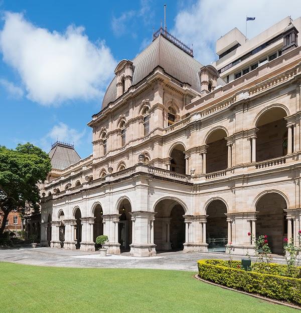 Popular tourist site Queensland Parliament in Brisbane City