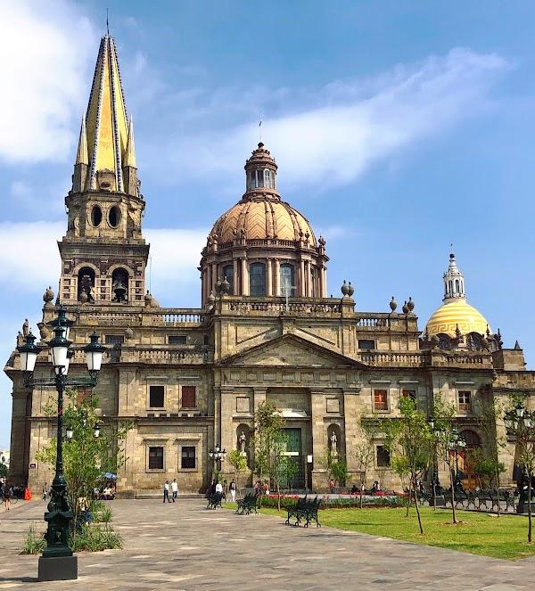 Popular tourist site Guadalajara Cathedral in Guadalajara