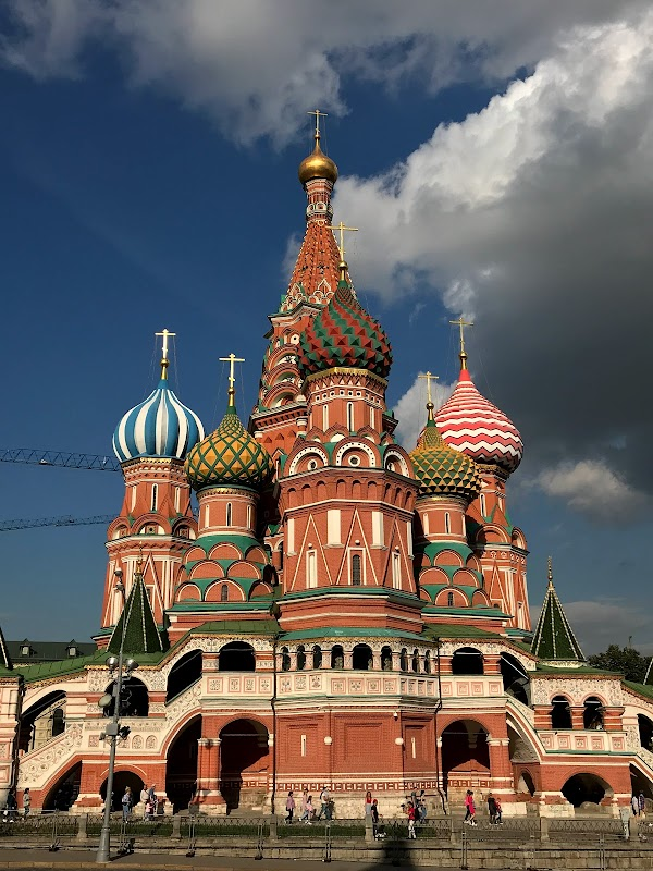 Popular tourist site Red Square in Moscow