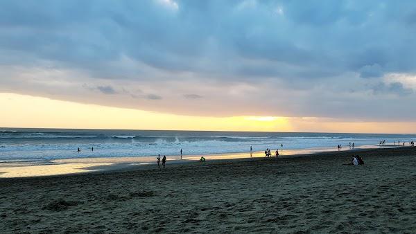 Popular tourist site Pantai Batu Belig in Canggu
