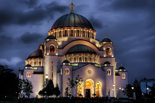 Popular tourist site Temple of Saint Sava in Belgrade