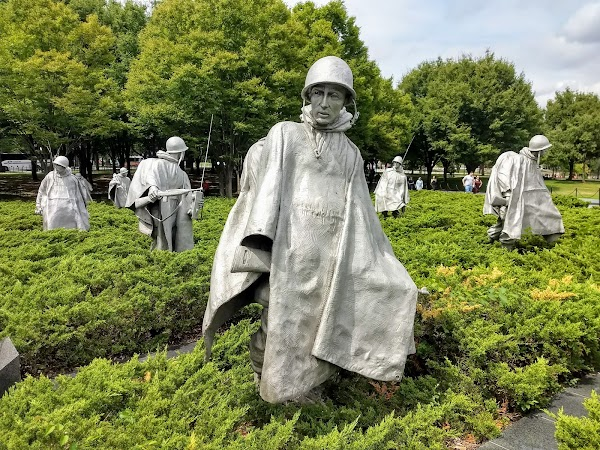 Popular tourist site Korean War Veterans Memorial in Washington D.C.