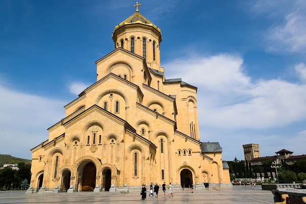 Popular tourist site Holy Trinity Cathedral of Tbilisi in Tbilisi