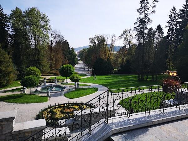 Popular tourist site City Park Tivoli in Ljubljana
