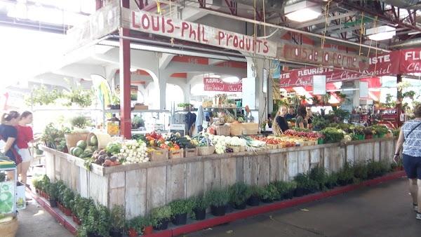 Popular tourist site Jean Talon Market in Montreal