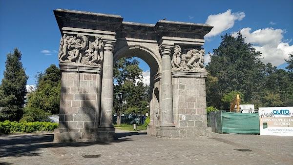 Popular tourist site Parque El Ejido in Quito