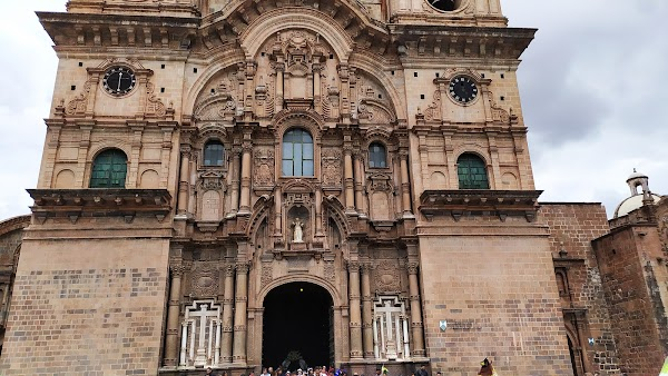 Popular tourist site Church of the Society of Jesus in Cusco