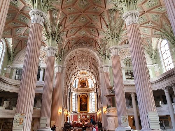 Popular tourist site St. Nicholas Church in Leipzig