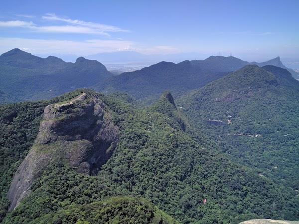 Popular tourist site Tijuca National Park in Rio de Janeiro
