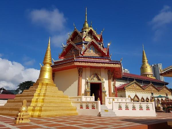 Popular tourist site Wat Chaiya Mangalaram Thai Buddhist Temp in Penang
