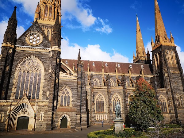 Popular tourist site St Patrick's Cathedral in Melbourne