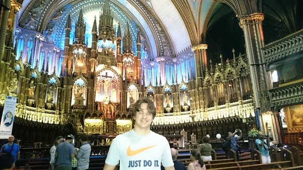 Popular tourist site Notre-Dame Basilica of Montreal in Montreal