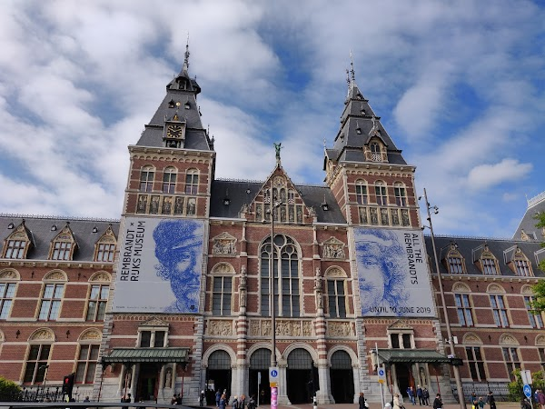 Popular tourist site Rijksmuseum in Amsterdam