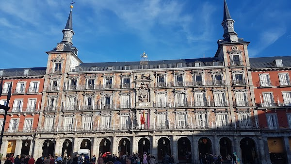 Popular tourist site Plaza Mayor in Madrid