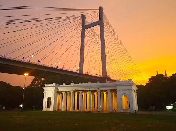 Popular tourist site James Prinsep Ghat in Kolkata