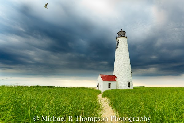 Popular tourist site Great Point Lighthouse in Nantucket