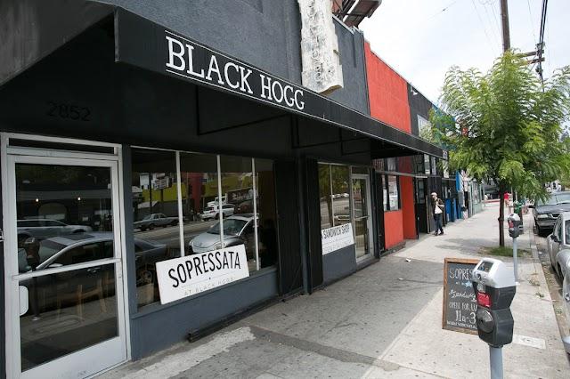 Black Hogg banner backdrop